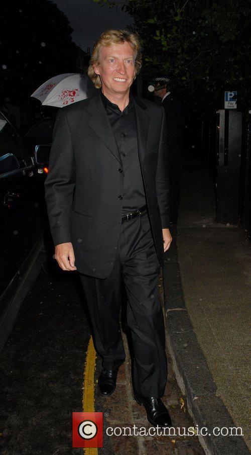 Nigel Lythgoe ,  arrives at Sir David...
