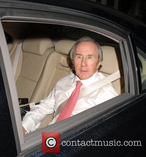 Jackie Stewart,  arrives at Sir David Frosts...