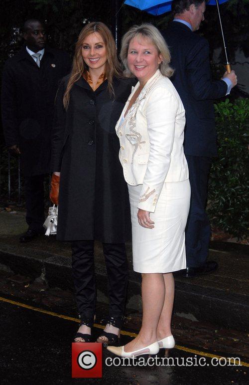 Carol Vorderman and Kathryn Apanowicz arriving at Sir...