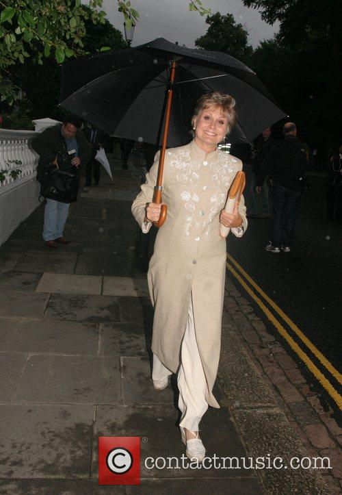 Angela Rippon arrives at Sir David Frosts Summer...