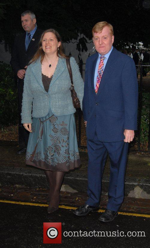 Charles Kennedy and wife Sarah Kennedy arrive at...