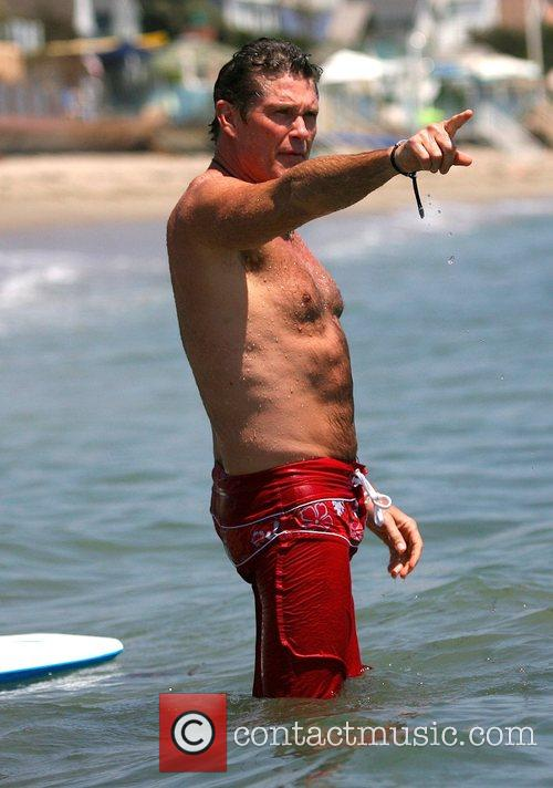 Baywatch star David Hasselhoff was back in the...