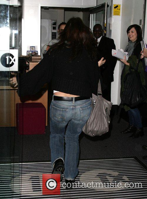 Davina McCall arriving at the BBC Radio 1...