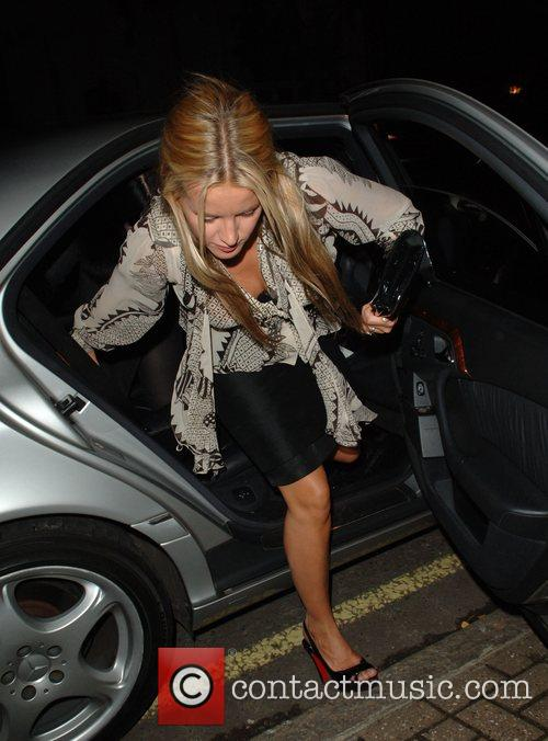 Davinia Taylor arrives at her house after the FrostFrench store...
