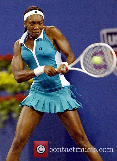 Venus Williams playing at Day 1 of the...