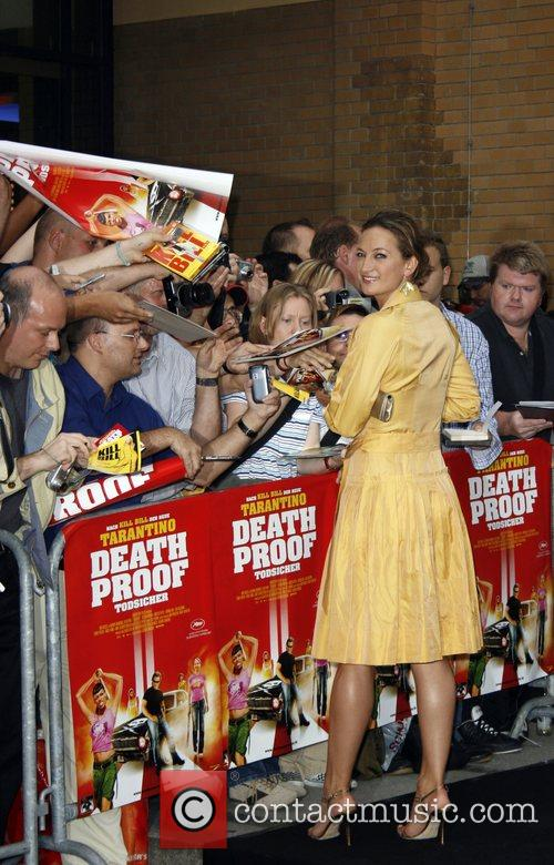 Zoe Bell signing autographs Special Screening of