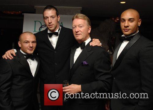 Frank Warren, Enzo Maccarinelli and guests Debra charity...