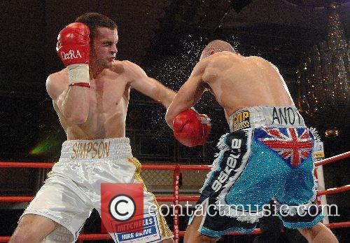 John Simpson (white, winner) vs Andy Morris (blue)...