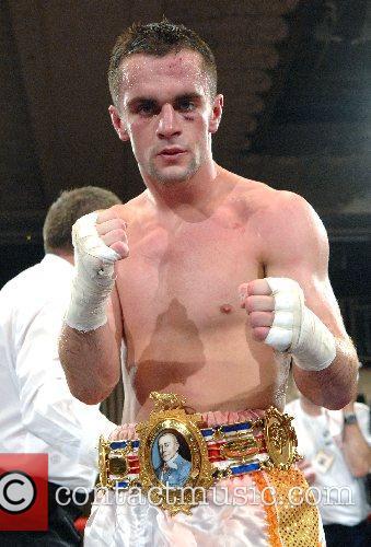 John Simpson (winner) - British featherwight championship Debra...