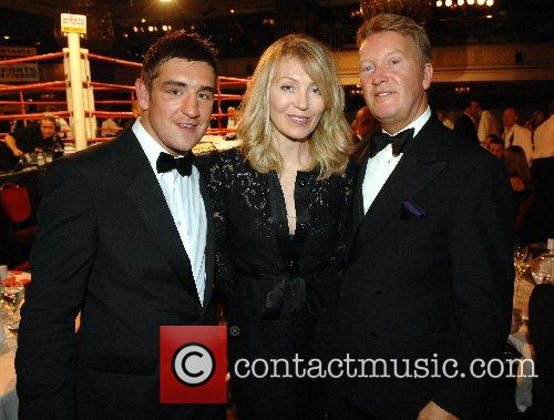 Kirsty Young, Frank Warren and guest Debra charity...