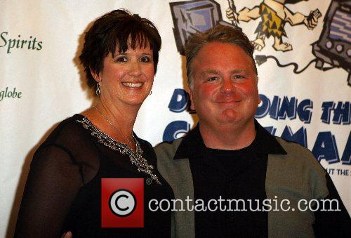 Kevin Burke and Karen Opening night of 'Defending...