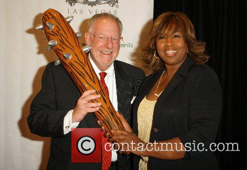 Mayor Oscar Goodman, Kim Flowers Opening night of...
