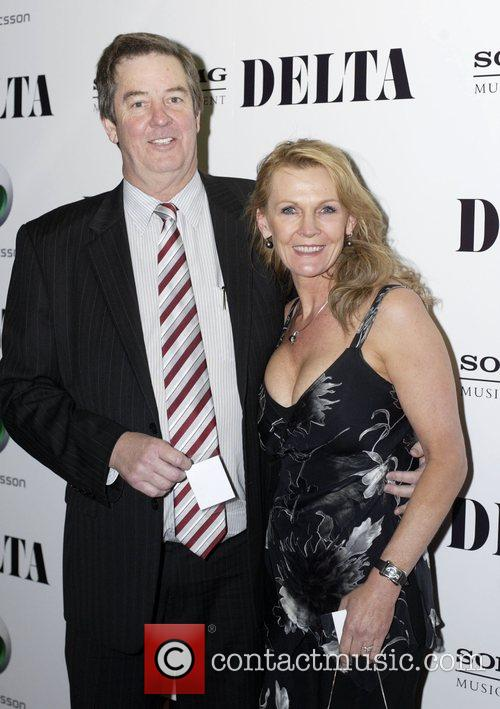 Dennis Goodrem and Louise Mitchell at the invitation...