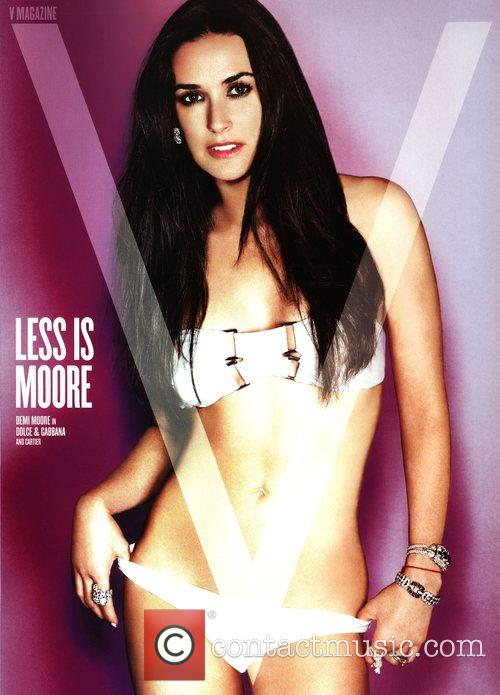 Demi Moore poses on the Spring Preview cover...