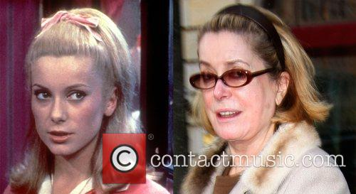 Catherine Deneuve a comparison from her apperance in...