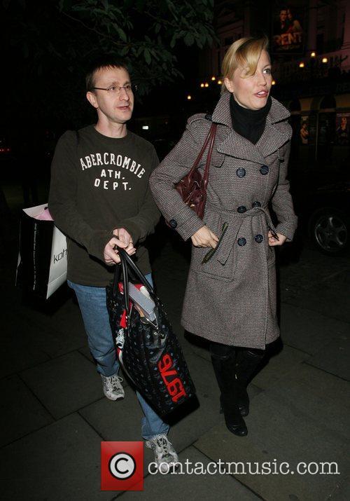 Denise Van Outen leaving the Duke of York...
