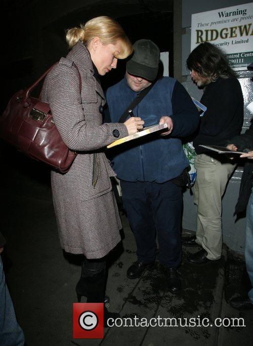 Denise Van Outen leaving the Duke of York...