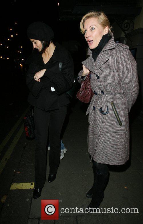 Melanie Sykes and Denise Van Outen leaving the...