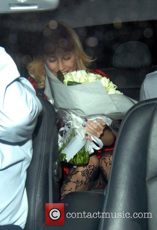 Denise Van Outen leaving the Jewel Bar restaurant...