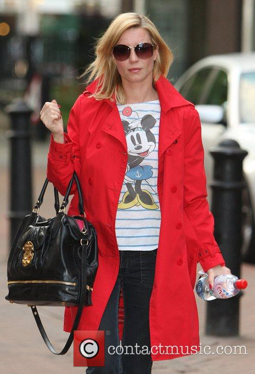 Denise Van Outen wearing a Minnie Mouse top...