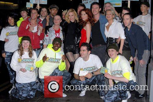 Denise Van Outen and the cast of Rent...