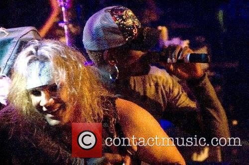 Performing live on stage with Metal Skool at...