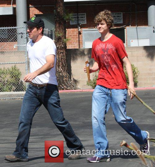 Dennis Quaid takes his son Jack to the...
