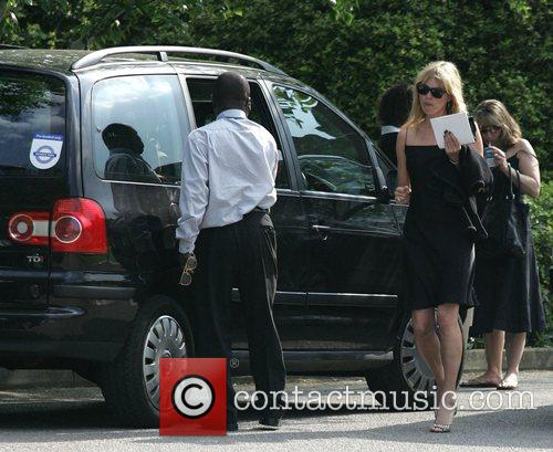 Kate Moss The funeral of Tarka Cordell, son...