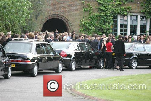 The funeral of Tarka Cordell, son of Denny...