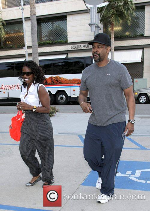 Denzel Washington, his wife Pauletta Washington