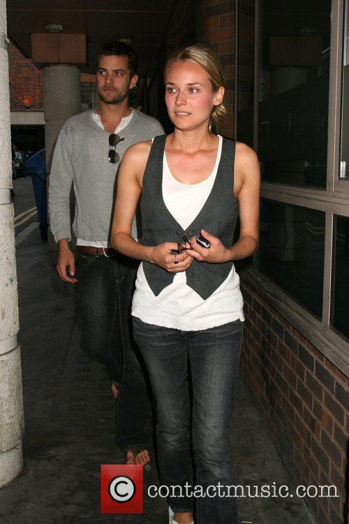 Diane Kruger and Joshua Jackson leaving their hotel