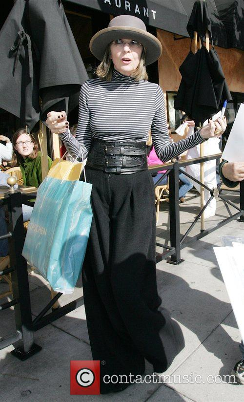 Diane Keaton leaving Taschen book store in Beverly...