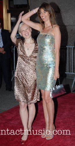 Oksana Baiul and Carol Alt New York Premiere...