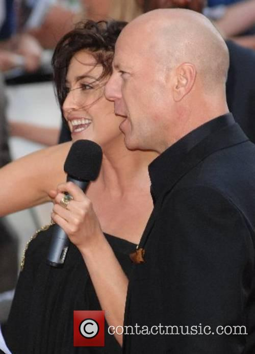 Lisa Snowdon and Bruce Willis UK Premiere of...