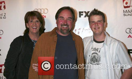 Richard Karn and family Premiere screening of 'Dirt'...