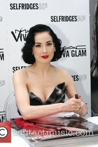 Dita Von Teese promotes Mac cosmetics