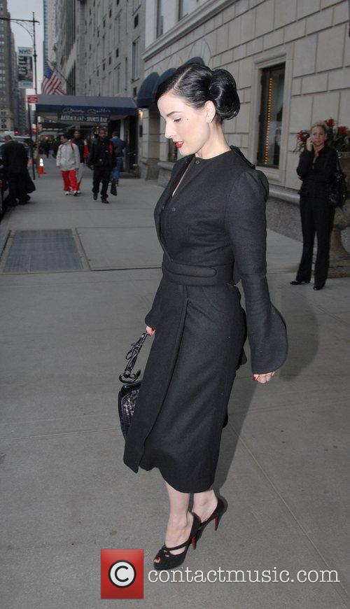 Dita Von Teese leaving her hotel in Manhattan...