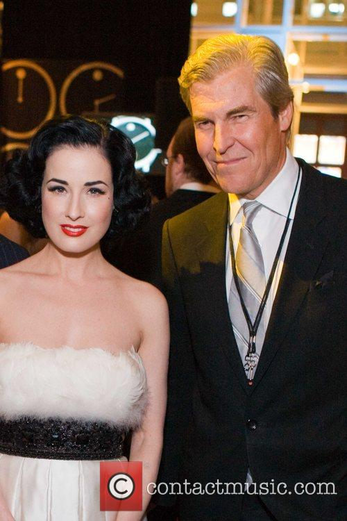 Dita Von Teese and Terry J. Lundgren at...