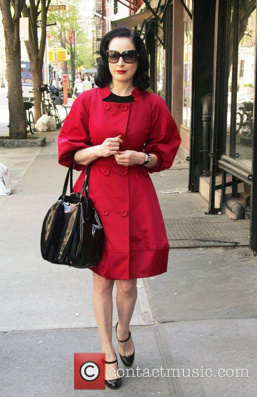 Dita Von Teese out and about with her...