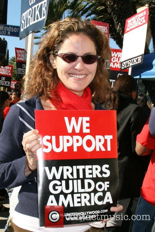 Amy Brenneman Writers Guild of America on strike...