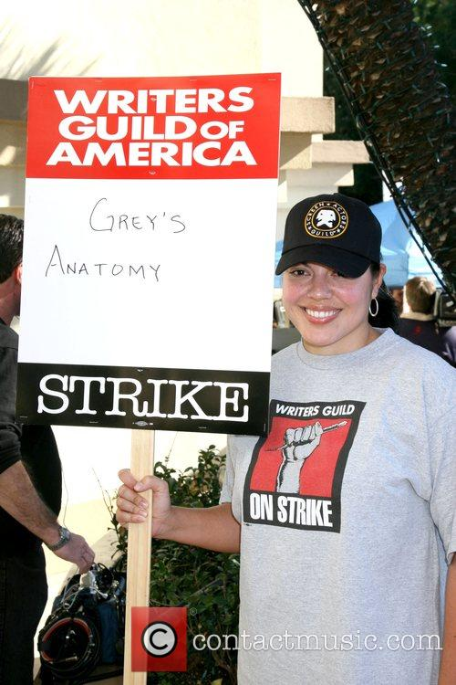 Sara Ramirez Writers Guild of America on strike...
