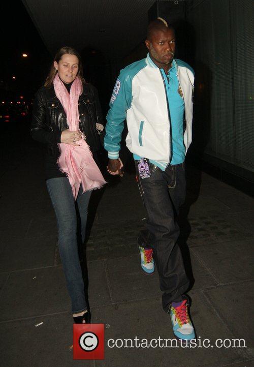 Ex Liverpool striker Djibril Cisse leaving his hotel,...