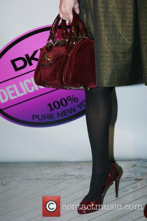 Dabney Mercer's shoes 'DKNY Delicious Night Fragrance Launch'...