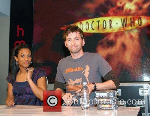 David Tennant, Freema Agyeman and Doctor Who 1