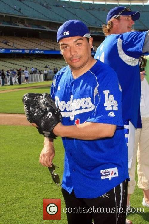 Carlos Mencia Dodgers 49th Hollywood Stars Game at...