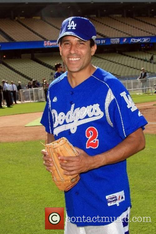 Oscar Nunez Dodgers 49th Hollywood Stars Game at...