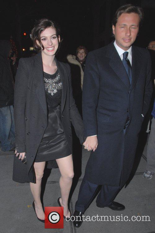 Anne Hathaway and Raffaello Follieri at the Dolce...