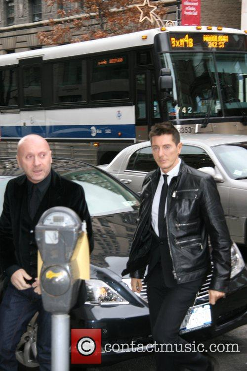 Domenico Dolce and Stefano Gabbana arrive at the...