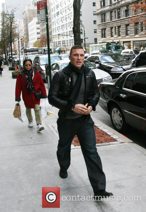 New York Rangers' Sean Avery arrives at the...