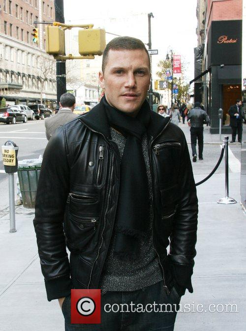 New York Rangers' Sean Avery departs the Dolce...